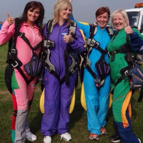 These Brave Girls undertook a Sky Dive parachute jump to raise lots of money for the Trust Headcorn 2014.jpg